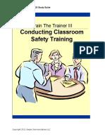 24. Conducting Classroom Safety Training