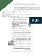 Evaluación Dignóstica Lenguaje y Comunicación 2