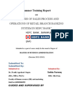 609. Sales Process of Hdfc Bank