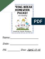 spring break packet - google docs
