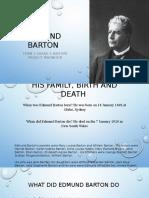 Edmund Barton History Project