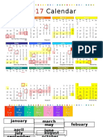 2017 Colorful Calendar