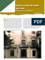 EL AYUNTAMIENTO-LONJA DE ASPE Y SU TORRE DEL RELOJ. UN EDIFICIO SINGULAR DEL BARROCO CIVIL ALICANTINO (2010)                          Felipe Mejías López