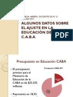 Ajuste en educación en CABA