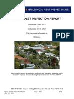 Sample Pest Report