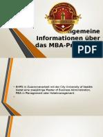 Allgemeine Informationen Über Das MBA-Programm