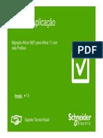 Nota de Aplicação. Migração Altivar 58(F) Para Altivar 71 Com Rede Profibus. Suporte Técnico Brasil. Versão- 1.0