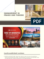 Hospitality Management in Praxis Und Theorie