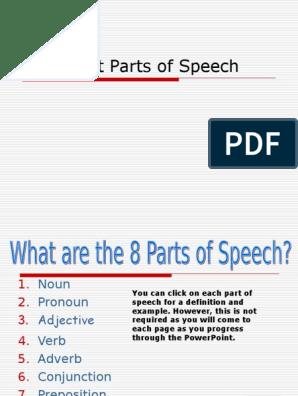 ARC  Parts of Speech ppt | Part Of Speech | Adverb