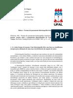 Síntese - As Formas Do Pensamento Historiográfico Brasileiro