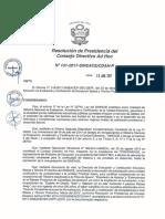 Resolución N°131-2017-SINEACE-CDAH-P