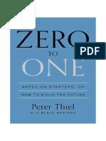 Zero to One - Notes on Startups - Peter Thiel (1)
