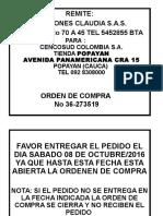 Formatos de Marcacion Popayan