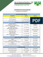 Calendário FKR 2017 - Atualizado Em 17-04