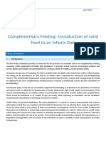 Complimentary Feeding Weaning Introduction of Solid Food to an Infants Diet 2013