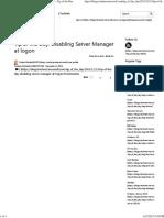 Disable ServerManagement at Logon