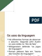 o Uso Da Linguagem
