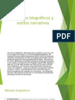 1. Métodos Biográficos y Estilos Narrativos