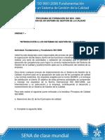 Fundamentos y Vocabulario ISO9000