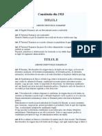 Constitutia Din 1923-Textul