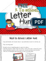 Back to School Letter Hunt Freebie