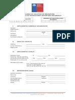 FORMULARIO de SOLICITUD de INSCRIPCIÓN - Registro Único Federaciones Deportivas Nacionales
