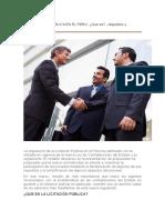 La Licitación Pública en El Peru