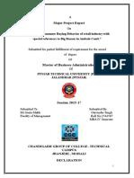 Gurvinder Singh Mba Major Project Report 1542507