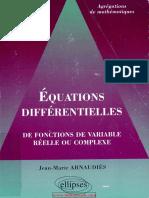 Arnaudiès-Équations Différentielles _ de Fonctions de Variable Réelle Ou Complexe