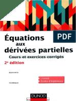 Équations Aux Dérivées Partielles _ Cours Et Exercices Corrigés
