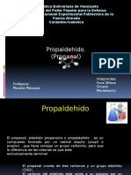 Procesos. Propanal.