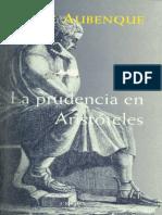 Aubenque Pierre - La Prudencia en Aristoteles
