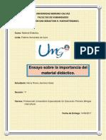 Ensayo de La Importancia Del Material Didactico en El Proceso de la Enseñanza.