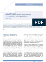 Funciones de Las TIC's en Las Organizaciones