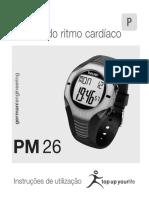 Relógio de Monitor do ritmo cardíaco - Beurer Pm-26