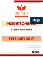 Insights February 2017 Current Affairs