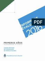 Informe Evaluacion 2016 Primeros Años