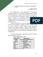 Reseña de Metodología de la investigación Cualitativa