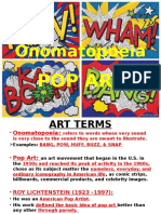 onomatopoeia pop art ppt