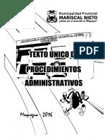 Texto Unico de Procedimientos Administrativos 2016