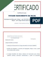 Certificado LIBRAS