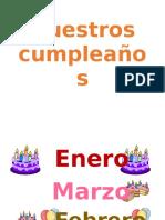 Meses Del Año Para Cumpleaños