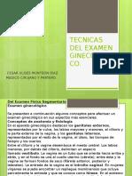 Tecnicas de Examen Ginecologico