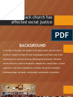 how the black church has affected social justice
