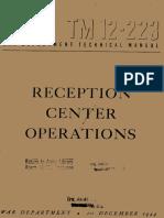 (1944) TM 12-223 Reception Center Operations