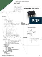 Amplificador Operacional - Wikipedia, La Enciclopedia Libre