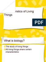 Characteristics of Living Things Ppt