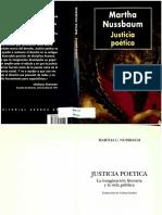 Nussbaum (Emociones Racionales y Justicia Poética)
