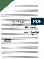 Yo Te Diré (Para Coro) - Manuscrita
