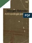 BALANDIER Antropologia Politica
